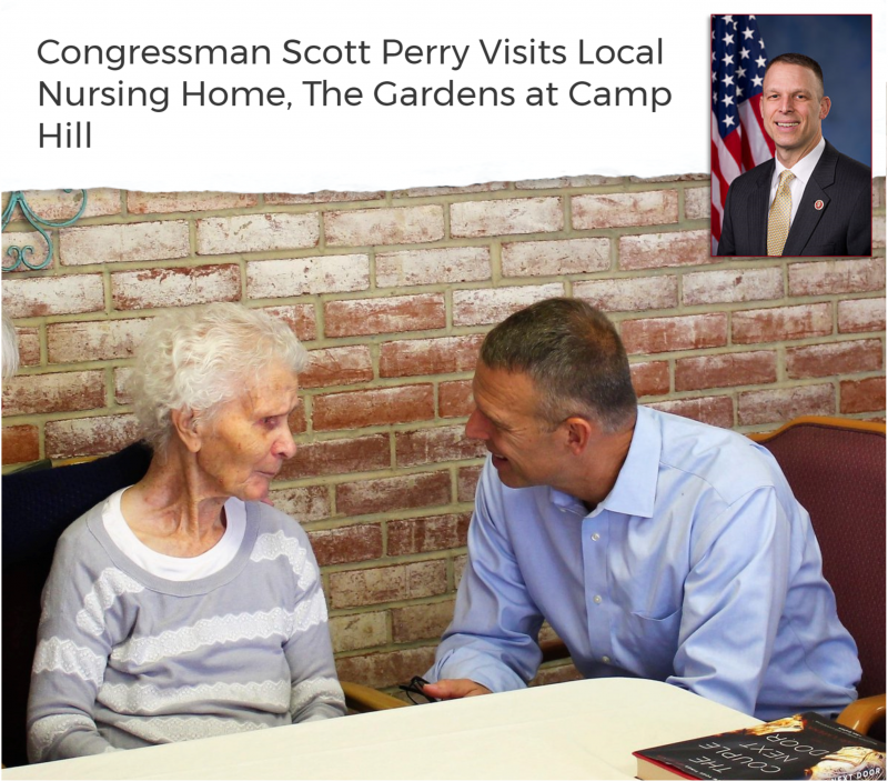Congressman Scott Perry Visits The Gardens at Camp Hill