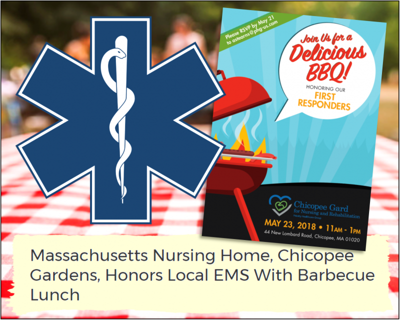 Chicopee Gardens Honors Local EMS With Barbecue Lunch