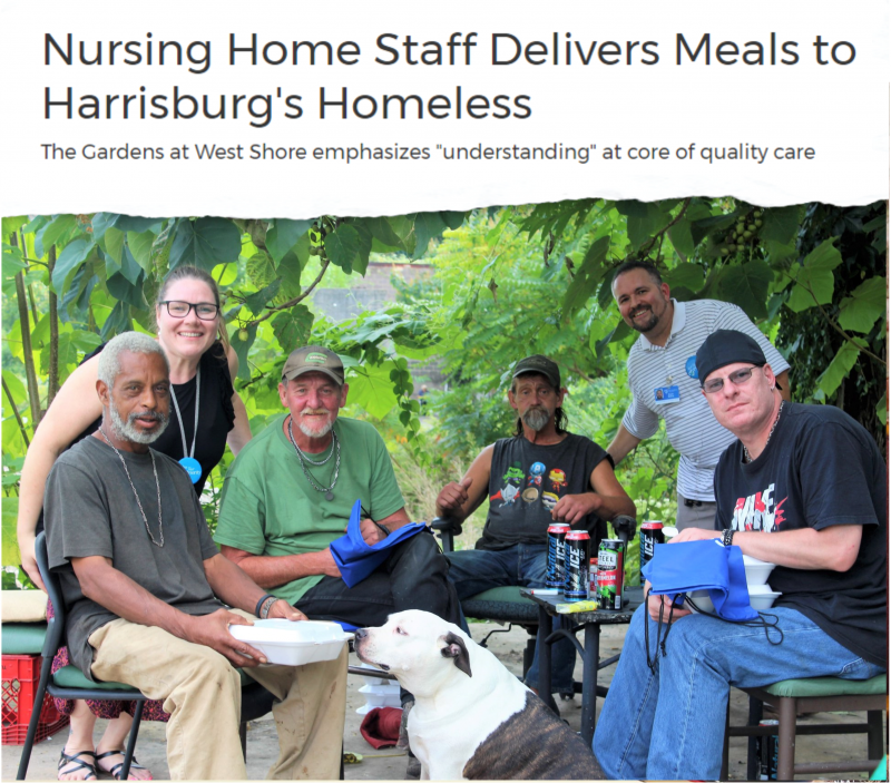The Gardens at West Shore Delivers Meals to Harrisburg's Homeless
