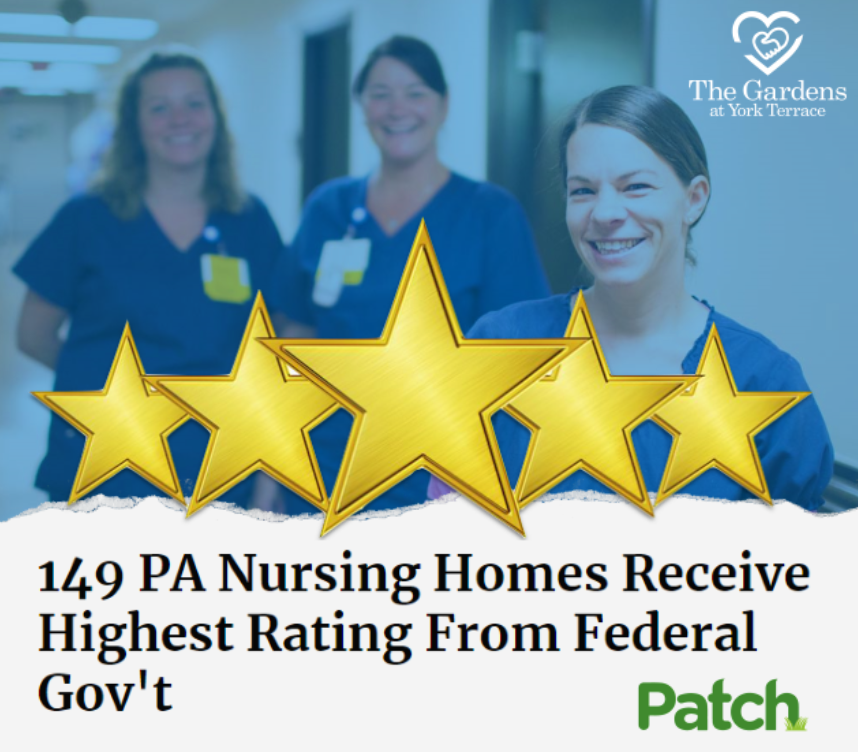 The Gardens at York Terrace Named Among Highest Rated Nursing Homes in PA